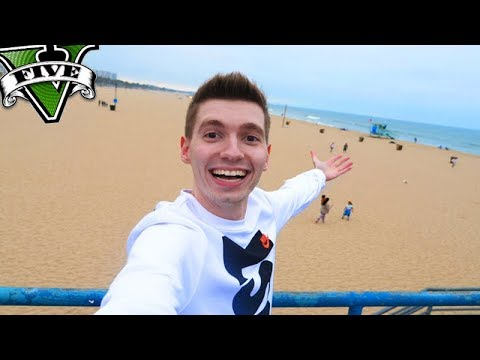 FUI NA PRAIA DO GTA 5 na VIDA REAL!!! GTA 5 REAL LIFE