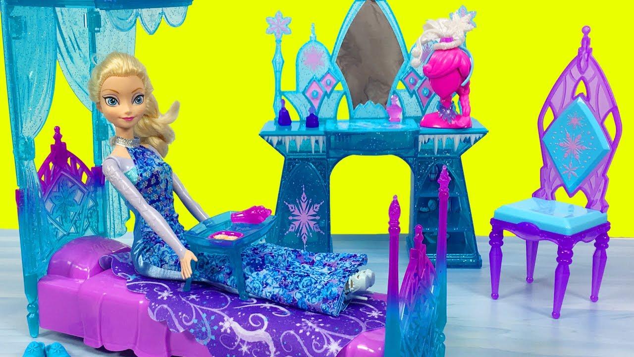 barbie ve suslu kralice elsa ile alisverise gidiyor oyuncak bebek evciliktv