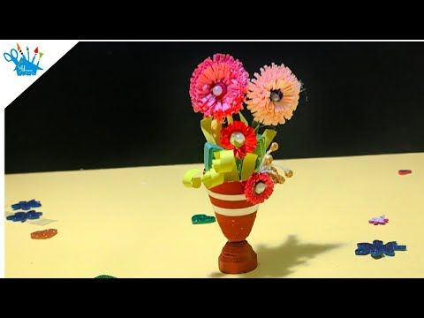 Quilling Craft |Quilling Flower Pot | Quilling Paper Art | Art | Creative