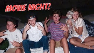 TEEN OUTDOOR MOVIE NIGHT! | Brock and Boston