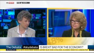 Watch Ruth Lea debate whether Brexit is 'bad' for the economy with Vicky Pryce