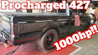 Supercharged 427 in Gen 1 Lightning makes 1000+hp!
