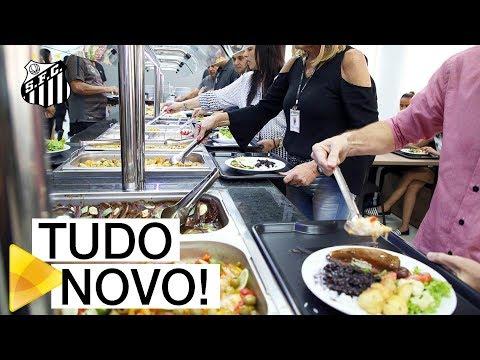 Santos FC inaugura refeitório para Base e funcionários