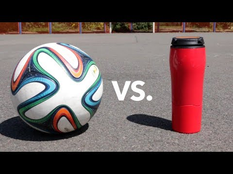 FOOTBALL vs. UNSPILLABLE CUP!!