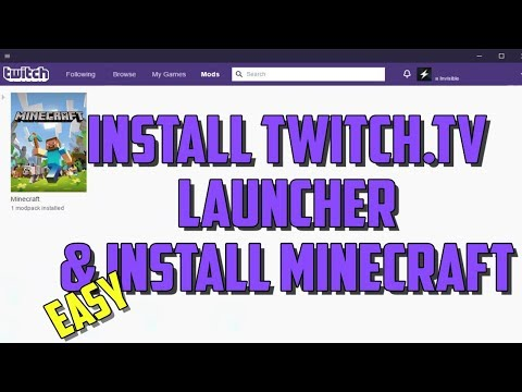 How To Download And Install Minecraft And The Twitch Launcher (2019)