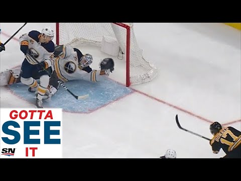 GOTTA SEE IT: Linus Ullmark Comes Up Big With A Pair Of Spectacular Saves Against The Bruins