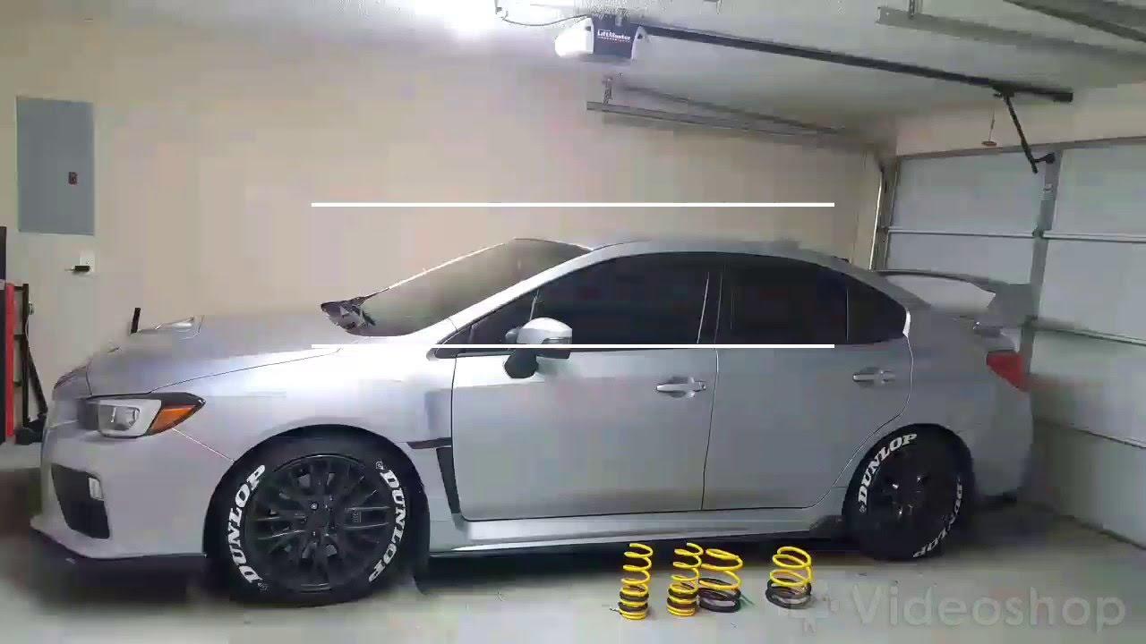 2017 Sti Lowered >> 2016 Subaru Wrx Sti Rce Yellow Springs And 20mm Wheel Spacers