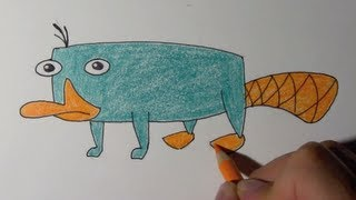 How to draw perry the platypus step by step - Very easy method