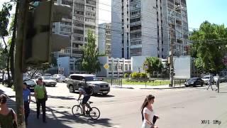 Тестовая видеозапись с IP камер XVI серии 10хх 1Mp улица, день