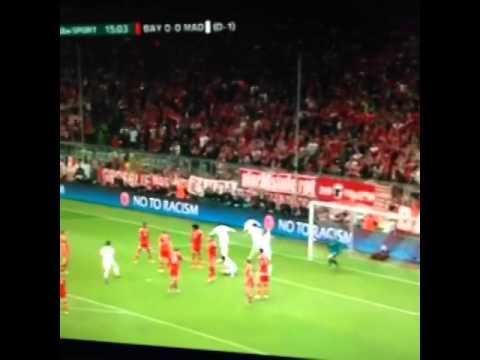 Sergio Ramos! Real Madrid 1 0 v Bayern Munich ...الهدف الاول لراموس امام البايرن ميونخ 29/4/2014