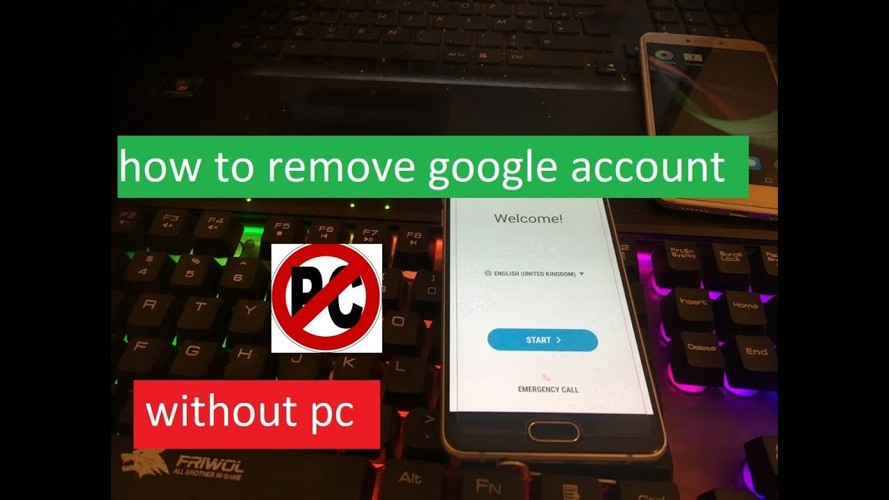 how to remove google account on samsung galaxy A5 2017 A5 2016 a520 a510f  without pc