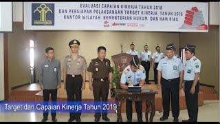 Capaian Kinerja Tahun 2019 Kantor Wilayah Kementerian Hukum dan HAM Riau