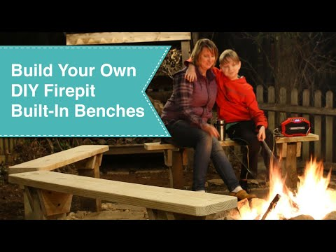 DIY Built-In Firepit Benches