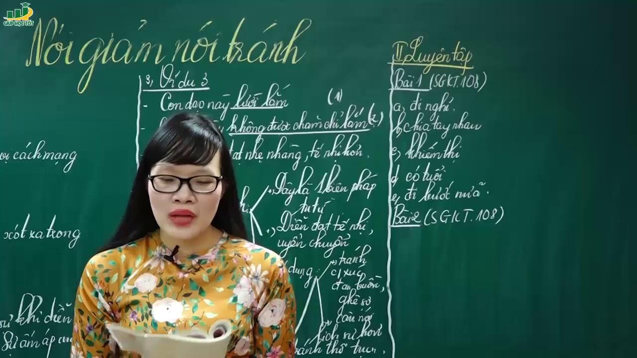 Ngữ Văn Lớp 8 – Bài giảng Nói giảm, nói tránh lớp 8 | Cô Lê Hạnh | Tiếng việt  Biện pháp nghệ thuật