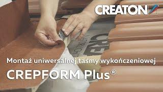 Montaż aluminiowej taśmy kominowej - CREATON CREPFORM Plus