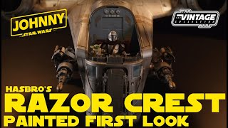 Hasbro's Haslab The Mandalorian Razor Crest Fully Painted First Look The Vintage Collection