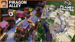 SHOPPING STREET BUILD | Piragon Alley (Planet Coaster)