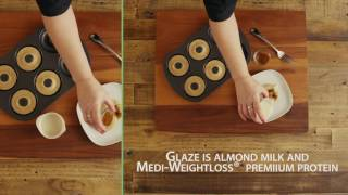 Medi-Weightloss Recipes - Glazed Cinnamon Donuts