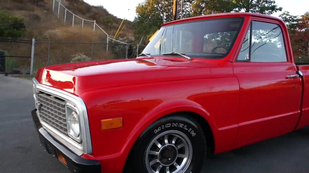 1972 Chevy C10 pickup truck Short Box New paint Interior FOR SALE