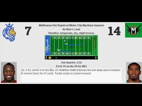 Week 6: Melbourne Uni Royals (4-1) @ Motor City Machine Gunners (4-1)