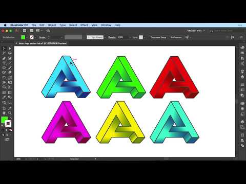How To Draw The Impossible Letter A In Illustrator