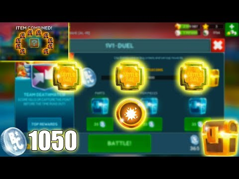 Battle Bay #179 - Spending 1050 Coins! MY 1st Leg Perk and My 4th Free to Play RED LEGENDARY ITEM!!!