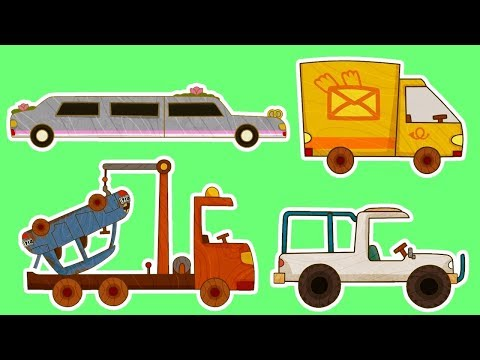 Мультики - МАШИНКИ - Все серии подряд - Фургон, Лимузин, Автокран и другие машинки - Видео онлайн