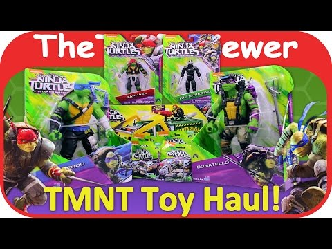 TMNT Toy Haul Teenage Mutant Ninja Turtles Out Of The Shadows Unboxing Toy Review By TheToyReviewer