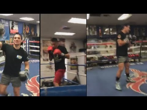 Argentino's 'Nino' Marcelino Lopez, and Ezequiel Matthysse mitt work plus heavy bag | TWT