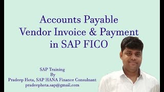 Accounts Payable in SAP FICO | Vendor Invoice in SAP FICO | Vendor Payment | Outgoing Payment in SAP