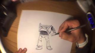 Pen Art - How to draw Buzz Lightyear
