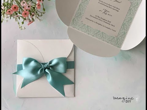 Make Your Own Wedding Invitations – Low Cost DIY Wedding Invitations with Bow