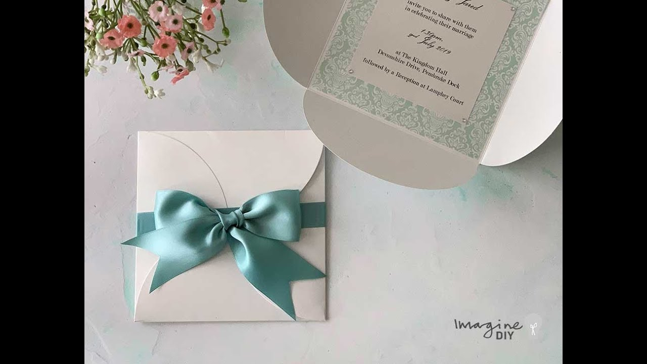 Make Your Own Wedding Invitations Low Cost Diy With Bow