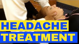 Headache Migraines Chiropractic Neck Adjustment Demonstration & Learn What Cause Headaches Everyday