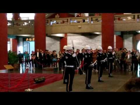 Changing of guards Sun Yat Sen Memorial Hall