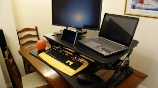 """FlexiSpot 35"""" stand up desk review - By TotallydubbedHD"""