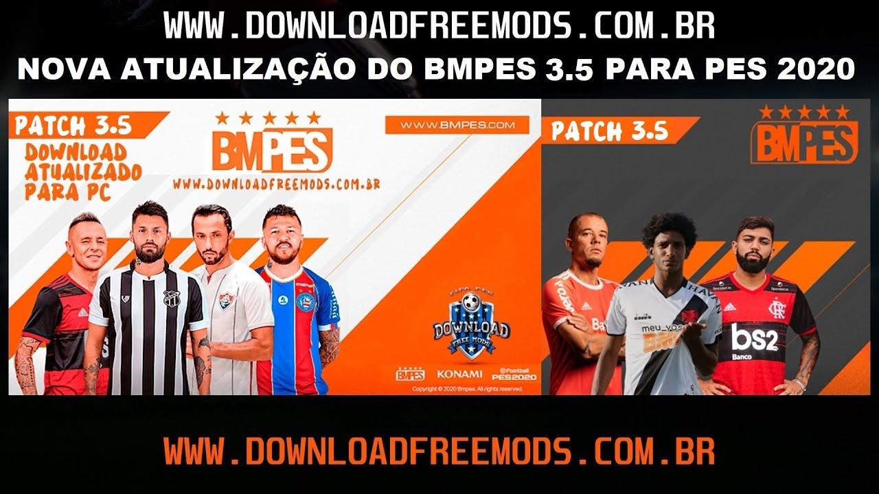 eFootball PES 2020 – DOWNLOAD GRÁTIS DA NOVA ATUALIZAÇÃO DO BMPES 3.5 PARA PES 2020 COM A DLC 7.0