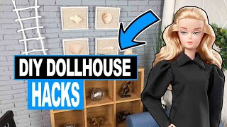 Barbie Dollhouse Decor Hacks I Miniature Crafts One Sixth Scale