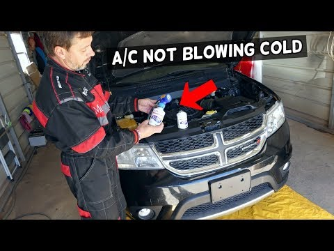 HOW TO RECHARGE REFILL AC AIR CONDITIONER ON DODGE JOURNEY FIAT FREEMONT