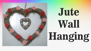 Beautiful Heart shaped jute wall hanging for Room Decoration