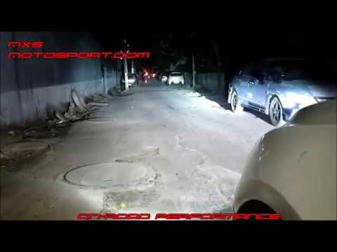 V1689 Chevrolet Cruze Daytime Xenon Projector Headlights On Road Focus Testing By MxsMotosport