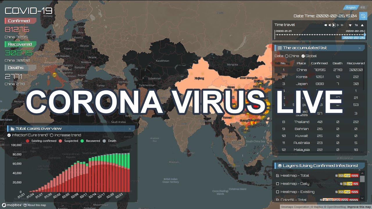 Coronavirus Covid 19 Update: Harta CORONA VIRUS COVID-19 Live Update
