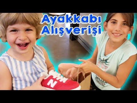 Noa Ve Maya İçin Ayakkabı Alışverişi   Bizim Aile Eğlenceli Çocuk Videoları
