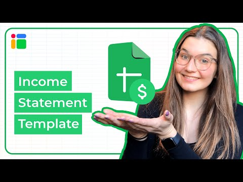 Automated Income Statement Template in Google Sheets - How to Install and Use