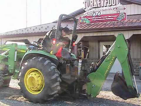 John Deere Backhoe Attachment >> John Deere 4710 Tractor460 Loader 48 Backhoe - YouTube