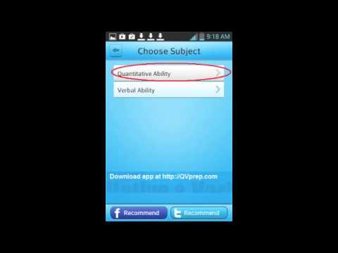Android iPhone iPad Educational apps QVprep Grade 10 Math English Consolidated app video Practice Te