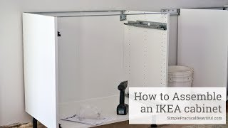 A step by step video tutorial showing how to build an IKEA base cabinet because sometimes it