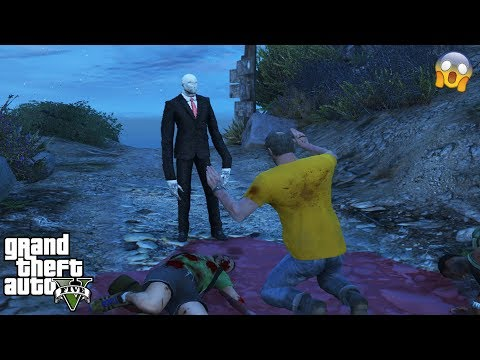GTA 5 - I FOUND SLENDERMAN on Mount Chiliad (scary easter egg)