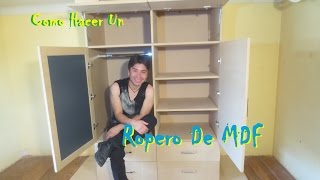 Como Hacer Un Ropero O Closet De MDF Facil