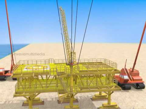 3D-Technical Animation for an Offshore Oil Process Platform